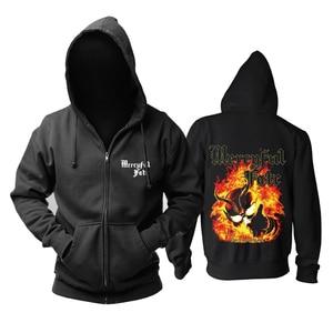 Image 1 - Mercyful Fate Rock hoodies shell jacket brand punk Fire Demon sudadera chandal hombre Outerwear tracksuit Sweatshirt
