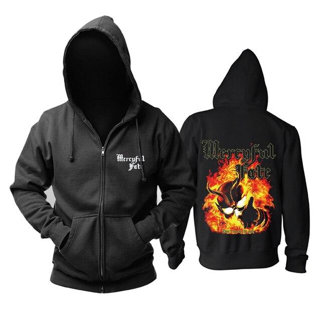 Mercyful Fate Rock hoodies 쉘 자켓 브랜드 펑크 화재 악마 sudadera chandal hombre 겉옷 tracksuit 스웨트