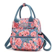 цена на Fresh Style Women Backpacks Floral Print Female Bookbags Waterproof Travel Backpack Casual nylon School Bag For Girls Rucksack