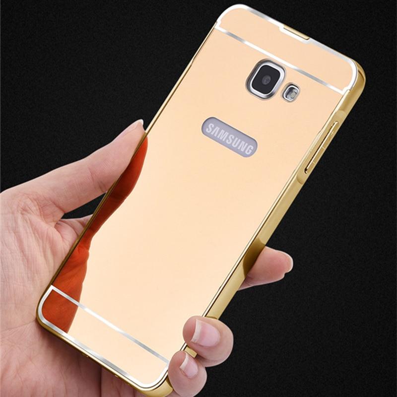Espejo de Metal Caja Del Teléfono de lujo Para Samsung Galaxy A320 A520 A720 A3