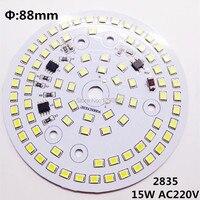 50 шт./лот 15 Вт светодиодные лампы пластины AC220v непосредственно SMD2835 88 мм водителя печатной платы теплый белый/Природа белый/ чистый белый Бес