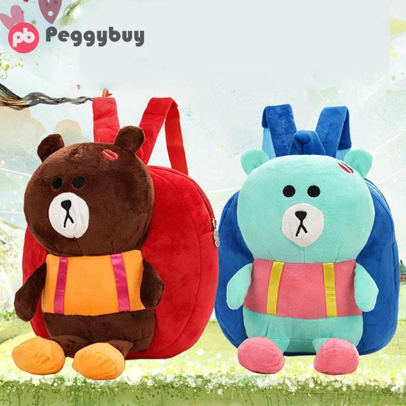 2018 новые милые детские носки с рисунком медведя из мультика Форма небольшие рюкзаки на молнии сумка Повседневное детский сад сумки на ремне