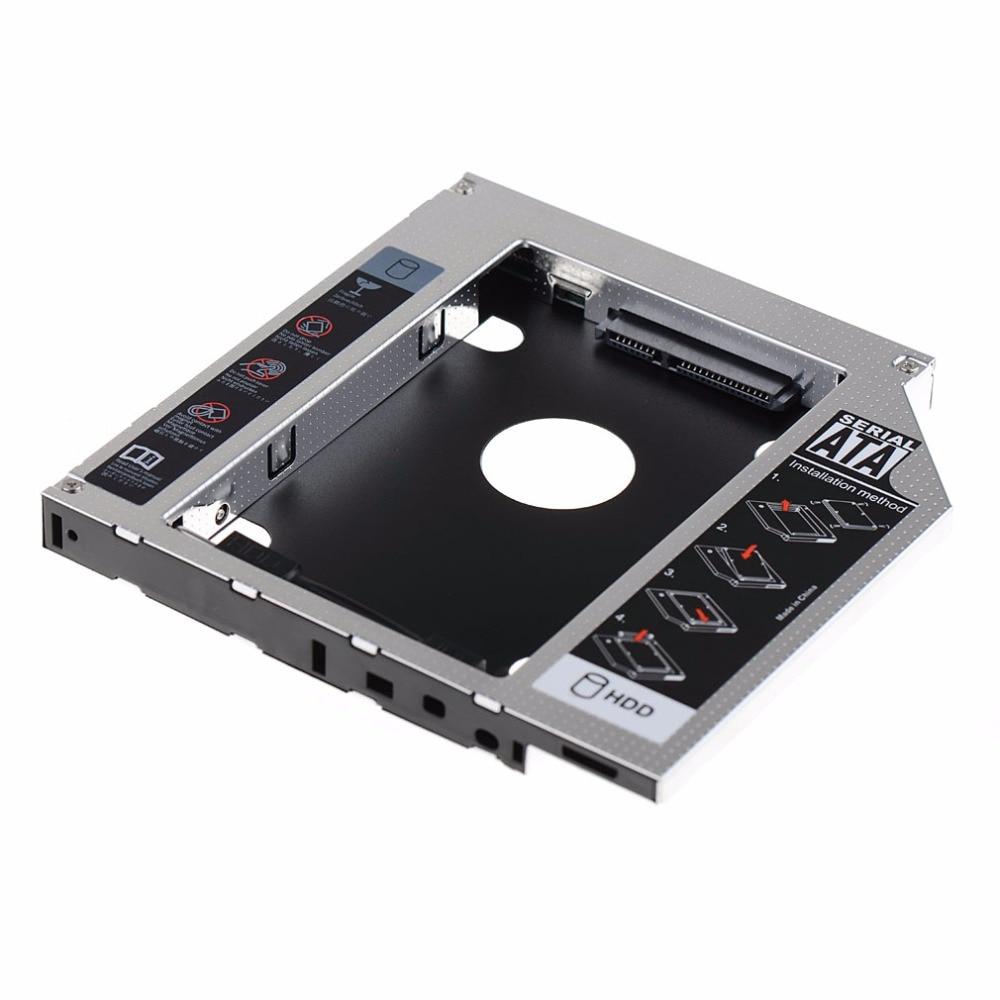 все цены на 12.7mm SATA HDD SSD Hard Drive Caddy Optical DVD Bay Adapter For Asus K53SV VCQ06 P10 онлайн