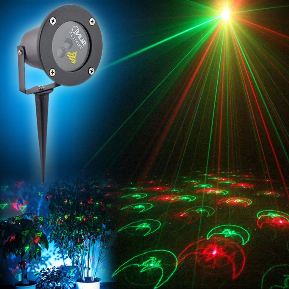 AUCD Waterproof 12 Christmas Pattern Red Green Outdoor / Indoor Projector Laser Light Landscape Garden Home Lighting GO-X12RG outdoor waterproof green lamp red garden tree laser landscape projector with 10 feet cable christmas lights star