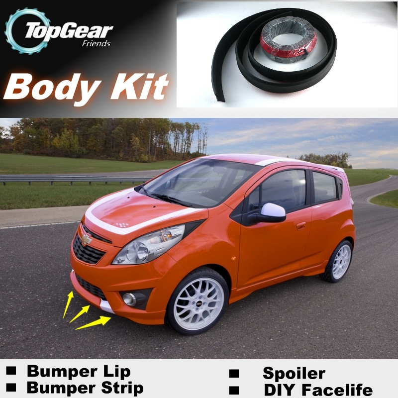Us 35 82 8 Off For Chevrolet Spark Bumper Lip Lips Top Gear Shop Spoiler For Car Tuning Topgear Body Kit Strip In Front Skirt From Automobiles