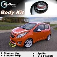 For Chevrolet Spark Bumper Lip Lips / Top Gear Shop Spoiler For Car Tuning / TOPGEAR Body Kit + Strip