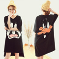 Fashion Women Cotton Nightgowns Summer Home Dress Cartoon Sleepwear Nightdress Loose Comfortable Sleepshirts for girls women
