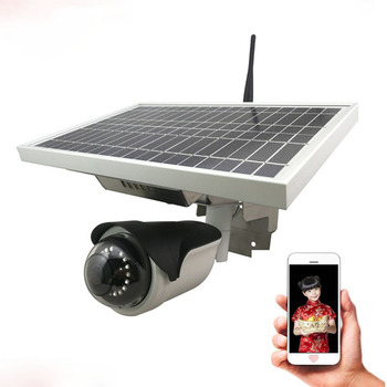 Wireless waterproof battery power ip camera solar camera 2