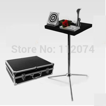 Jumbo Sidekick And Glass Breaking Table Combination,Two In One  - Magic Tricks,Stage Gimmick Props,Accessories,Comedy glass breaking table with aluminium case magic table combination tricks stage gimmick illusions accessories mentalism