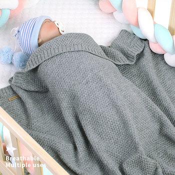 baby blankets newborn cute heart shape knitting blanket super soft infant bedding baby blanket sleeping knitted for 0 6 age Knitted Baby Blankets Newborn Children's Blanket Newborn Muslin Swaddle Soft Bedding Baby Swaddle Blanket For Newborns