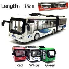 New 1:48 alloy model bus plastic diecasts toy vehic