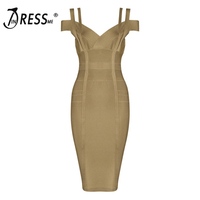2016 New Army Green Color Autumn Spaghetti Strap V Neck Women Mini Bandage Dress