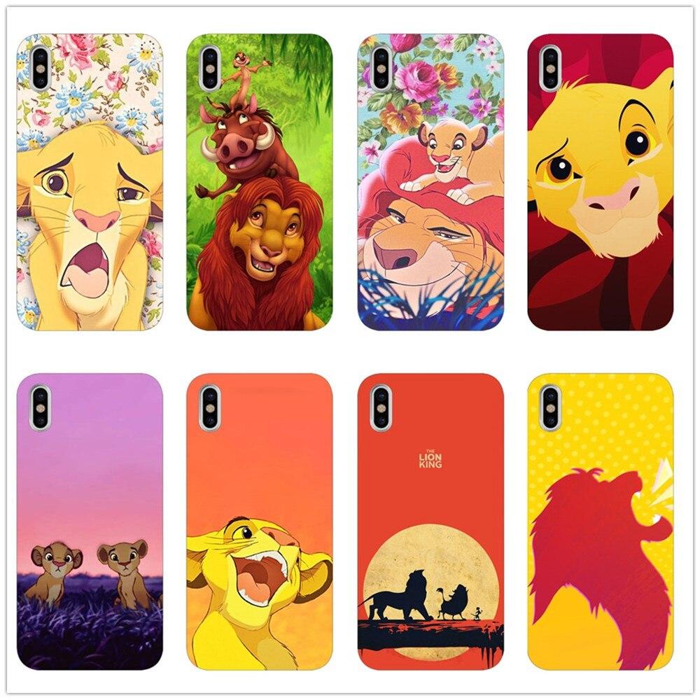 Intellective De Lion King Grumpy Kat Simba Klassieke High-end Zachte Telefoon Case Voor Iphone 8 7 6 Plus X Xs Xr Xsmax 5 S Se Coque Shell Obstructie Verwijderen