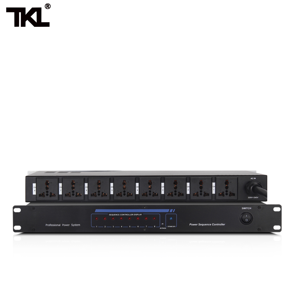 TKL D8 8 10 Channel Power sequence Automatic Air switch power strip bar Effectively protect the
