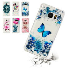 Case For Samsung Galaxy S5 S6 Edge S7 Transparent Printing Drawing Silicone Shockproof Phone Cases For Samsung Galaxy S7 Edge все цены