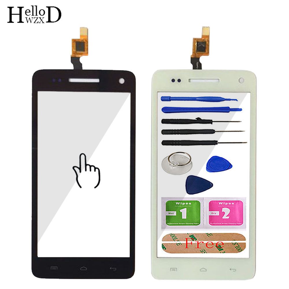Touch Screen Glass For Wiko Rainbow Touch Screen Glass Digitizer Panel Touchscreen Front Glass Lens Sensor Tools Adhesive