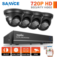 SANNCE 8CH 1080N HDMI DVR CCTV System 4pcs 720P Security Cameras IR Indoor Waterproof Outdoor Video Surveillance CCTV Kit