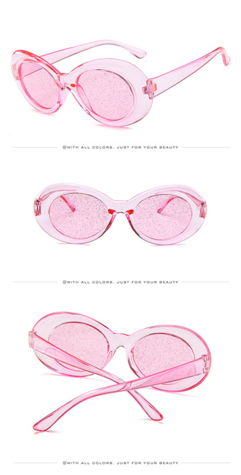47da43c62c Nuevas gafas de sol ovaladas ojo de gato bella hadid Instagram foto gafas  de sol bella hadid Vintage NIRVANA Kurt Cobain gafas de sol redondas