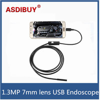 6 LEDs Waterproof 1 3MP HD Android Phone Endoscope Inspection Camera USB Endoscope Camera 7mm With