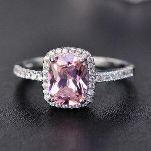 Женское кольцо с изумрудом PANSYSEN, 6 цветов, настоящее Стерлинговое Серебро 925 пробы, обручальное кольцо с цирконием