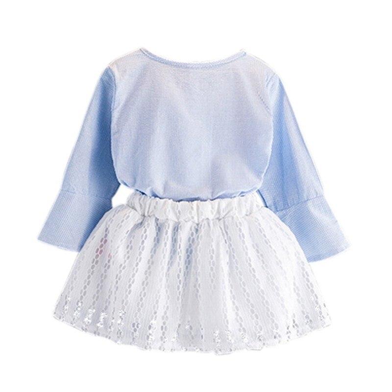 New Style Girl Clothes Set Lato z długim rękawem T-shirt z - Ubrania dziecięce - Zdjęcie 4