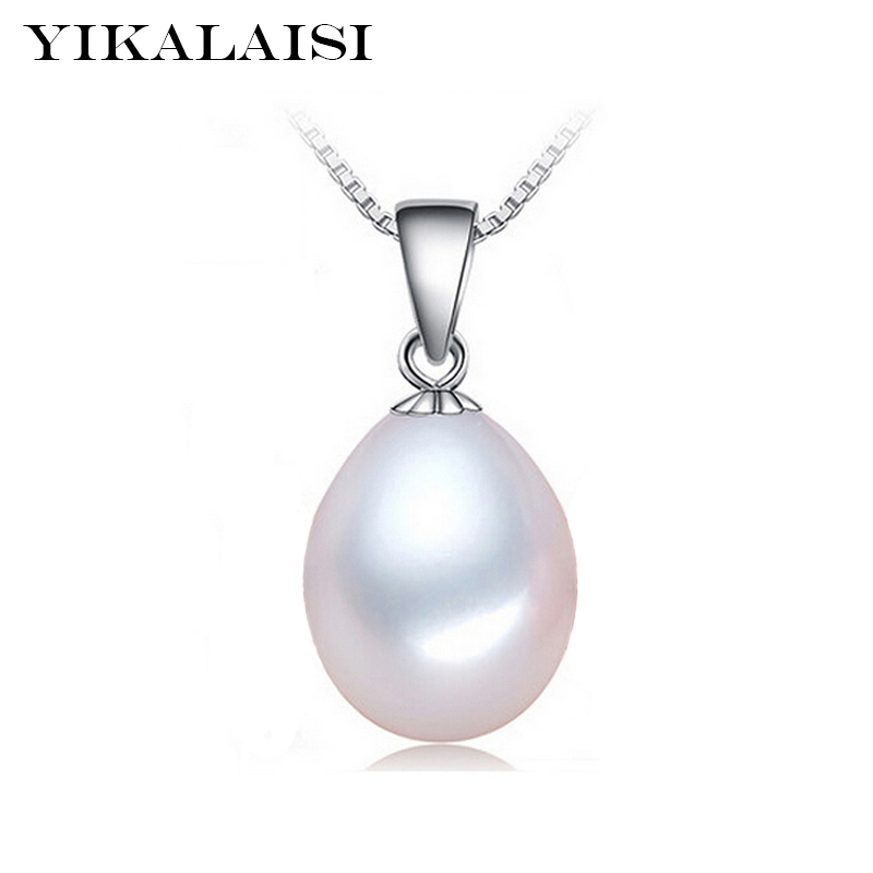 YIKALAISI 925 Sterling Silver smycken för kvinnor Pearl Necklace Natural Pearl Choker Necklace Pendant Pearl Jewelry