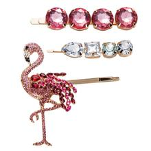 2019 ZA New Animal Bird Hair Clip Pins for Women Girls Pink Crystal Bobby Baby Wedding Party Accessories Jewelry