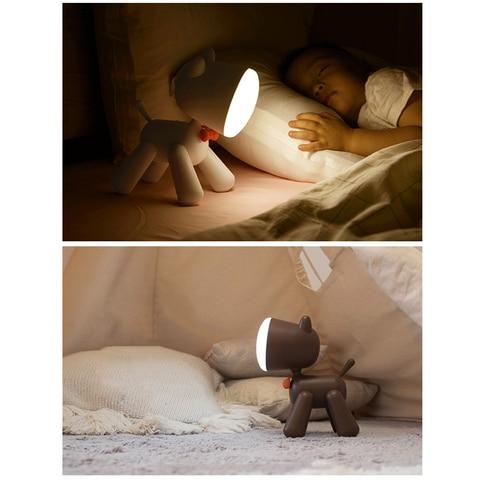 animal dos desenhos animados lampada regulavel usb