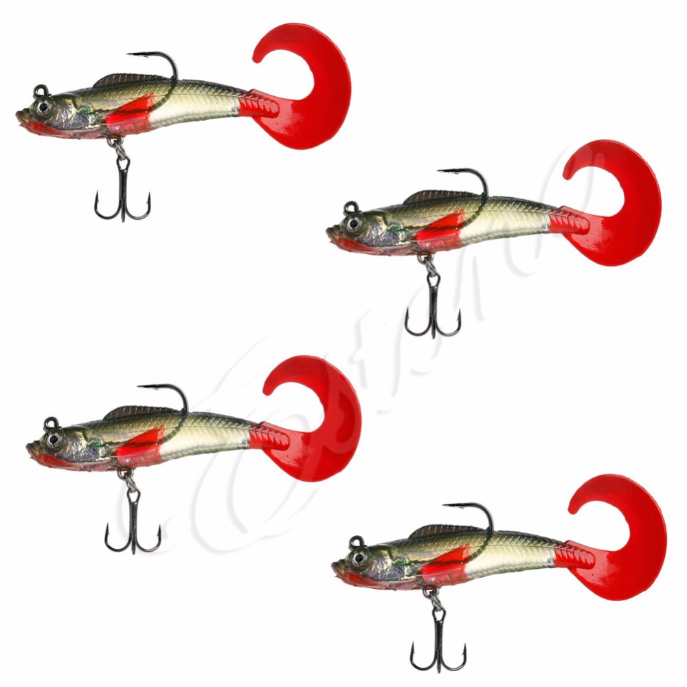 Buy lot 4pcs soft silicone fish lures for Best hooks for bass fishing