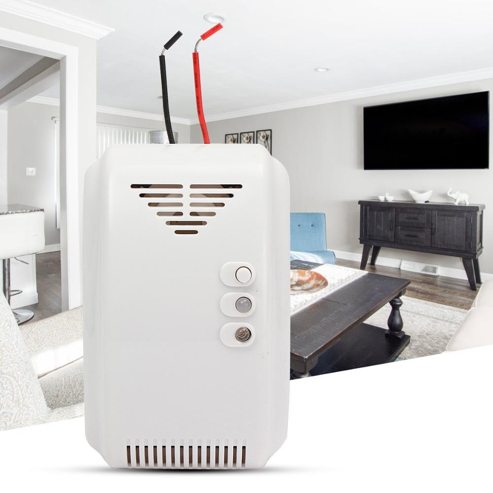 12V LPG Propane Butane Combustible Gas Leak Alarm Detector Sensor LED Flash Alarm Sound Motor Alarm Home Security Safety GT