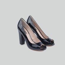 BASIC EDITIONS Женщины Высокие Каблуки Весна Лето Моды Натуральная кожа Офис Shoes-728-1