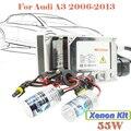 55 W Xenon Kit escondeu lâmpada de alumínio Shell lastro DC 12 V 3000 K - 15000 K Conversion farol do carro para 2006 - 2013 A3