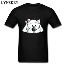 West Highland White Terrier Dog Lovey Gift Tops & Tees For Men Cas