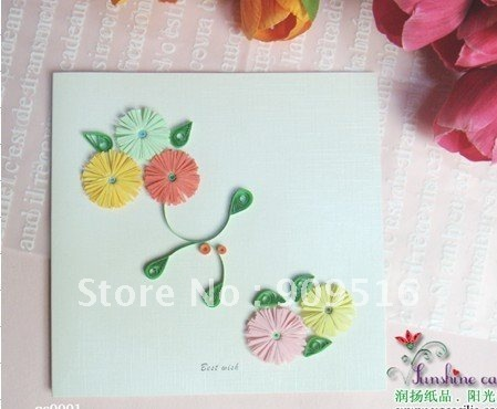 10pcs hot-selling greeting cards 100% handmade free shipping
