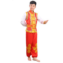 New style drum costumes Yangko costumes ethnic men and women costumes Dragon Dance Lion waist Drum
