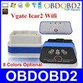Mejor Calidad Vgate Icar 2 ELM327 Wifi OBD2/OBDii CAN-BUS V1.5 Hardware ICAR2 ELM 327 Wifi Funciona En Android/IOS/PC Envío Gratis