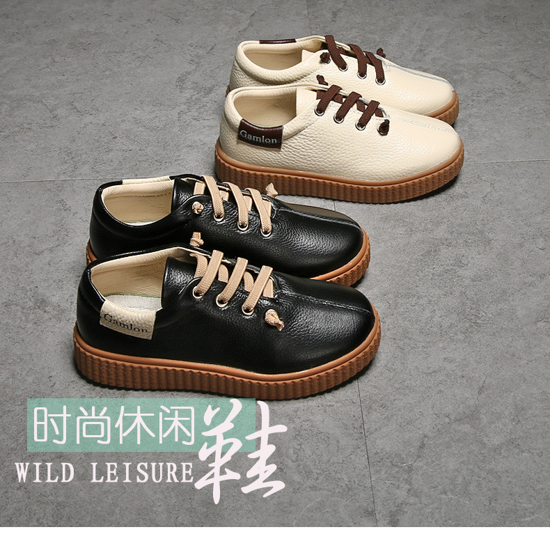 WENDYWU 2017 NEW arrivals Boys and girls leisure board shoes leather sports shoes wear non - slip breathable 2016 summer new boys and girls shoes korean sports beach sandals wear non slip