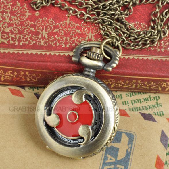 Naruto Men Women Pocket Watch Necklace