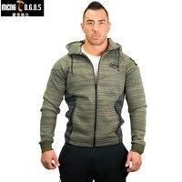 2017Winter Style Men Hoodies Fleece Thicken Warm GYMS Sweatshirt Male Casual Fashion Fitness Hooded Jacket Brand