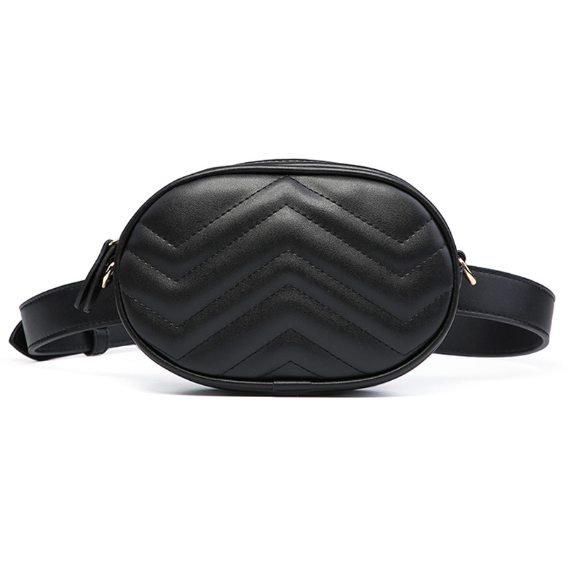 Fanny Pack Waist Bag Women Belt Bag Ladies Luxury Brand Leather Wallet Purse Chest Red Black 2018 New Money Bag Mother's Day