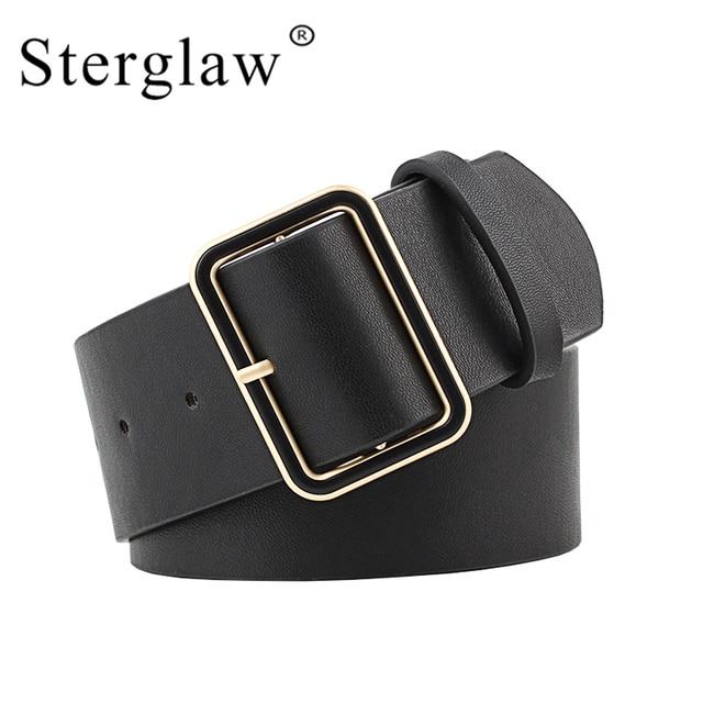 105x4,8 cm nuevo diseño cinturón ancho mujer jeans cinturones decorar cintura de moda de oro hebilla ancho cinturón fiesta cinturón Negro N020