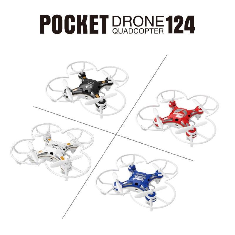 SBEGO 124 Mini Dron de bolsillo Control remoto 4CH 6 Axis Gyro Quadcopter con controlador conmutable RTF helicóptero juguetes para niños
