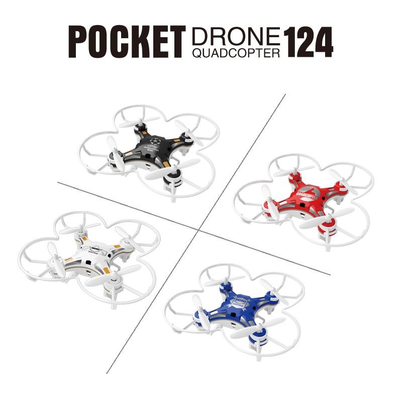 SBEGO 124 Mini Pocket Drone Control remoto 4CH 6 Axis Gyro Quadcopter con controlador conmutable RTF helicóptero juguetes para niños