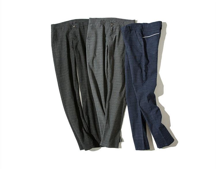 HTB1YTO.oiMnBKNjSZFoq6zOSFXa1 MRMT 2019 Brand Mens Spring And Summer Casual Pants Men Striped Micro Elastic Straight Trousers