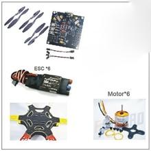F550 FlameWheel Kit Drone Con KK 2.3 HY ESC Motor De Fibra De Carbono Hélices F05114-U