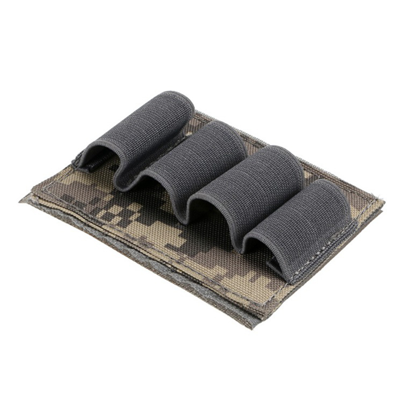 800D   Bullet Pouch Paintball Buttstock Hand Gun Ammo Pouch Carrier Tactical Hunting Rifle 4 Shells Cartridge Holder