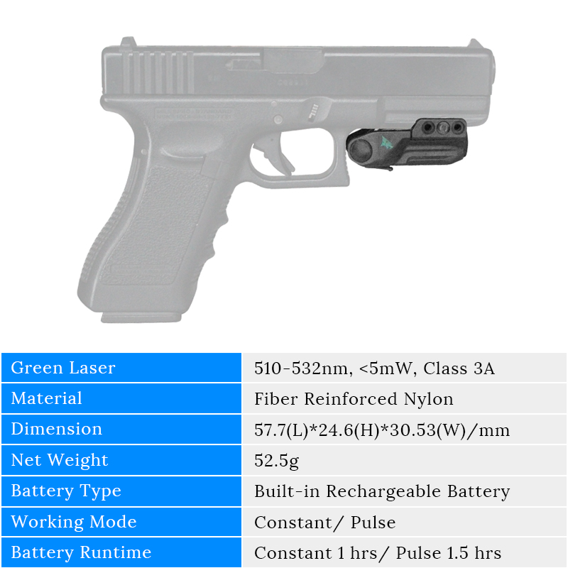 l9 gt glock verde mira laser inteligente digital 01