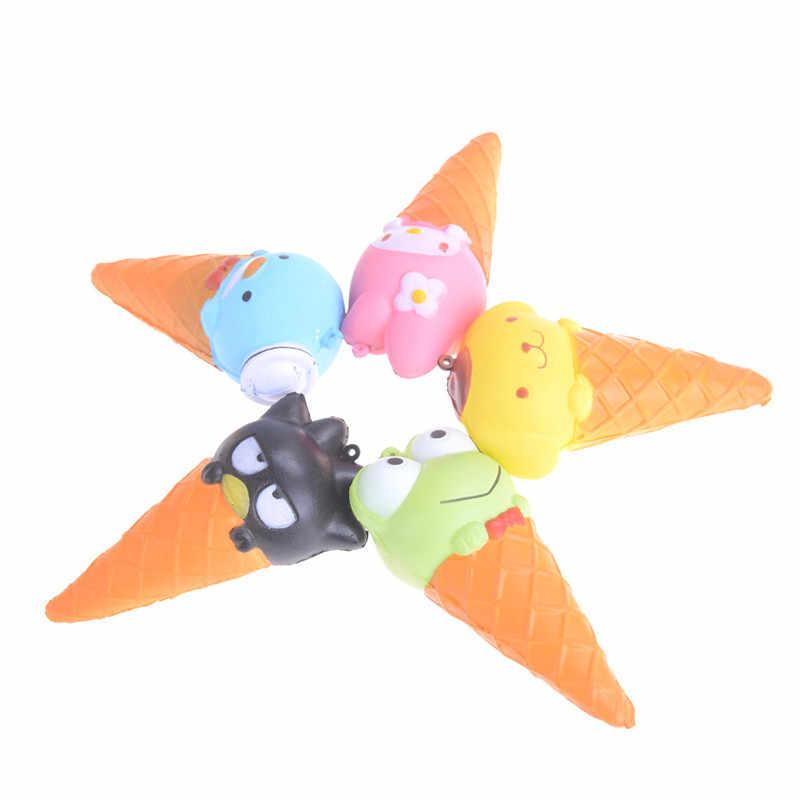 JINHF 10 CENTÍMETROS Jumbo Animal Ice Cream Mole Lenta Subindo Espremer Pão Kawaii Dos Desenhos Animados Macio Correias Brinquedos Presentes de Natal