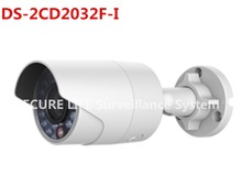Free shipping  English version DS-2CD2032F-I 3MP mini bullet POE ip camera, cctv security camera