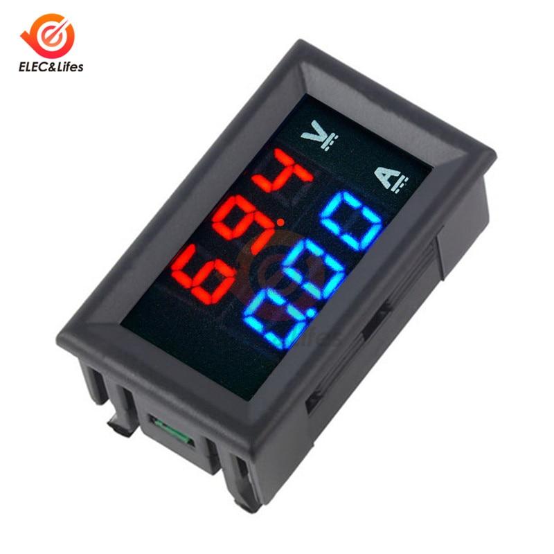 HTB1YTOBaLvsK1RjSspdq6AZepXag DC 0-100V 10A 50A 100A Electronic Digital Voltmeter Ammeter 0.56'' LED Display Voltage Regulator Volt AMP Current Meter Tester